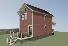 Home Plan - Traditional Exterior - Rear Elevation Plan #79-277