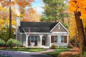 Cottage Exterior - Front Elevation Plan #22-570