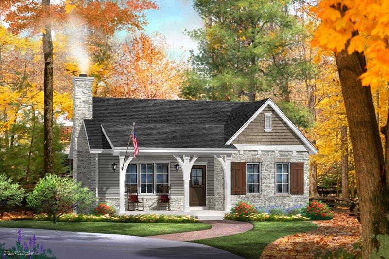 Home Plan - Cottage Exterior - Front Elevation Plan #22-570