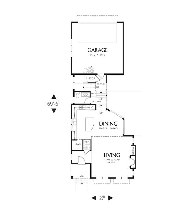 Cottage Floor Plan - Main Floor Plan Plan #48-265