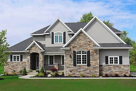 House Blueprint - Traditional Exterior - Front Elevation Plan #20-2126