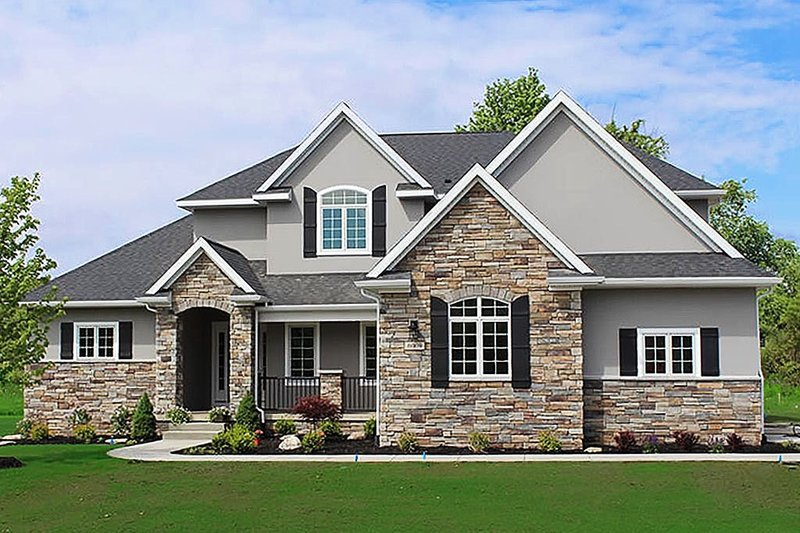 House Design - Traditional Exterior - Front Elevation Plan #20-2126