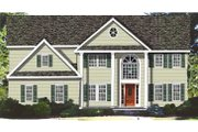 Classical Style House Plan - 4 Beds 3.5 Baths 3674 Sq/Ft Plan #3-268 Exterior - Front Elevation