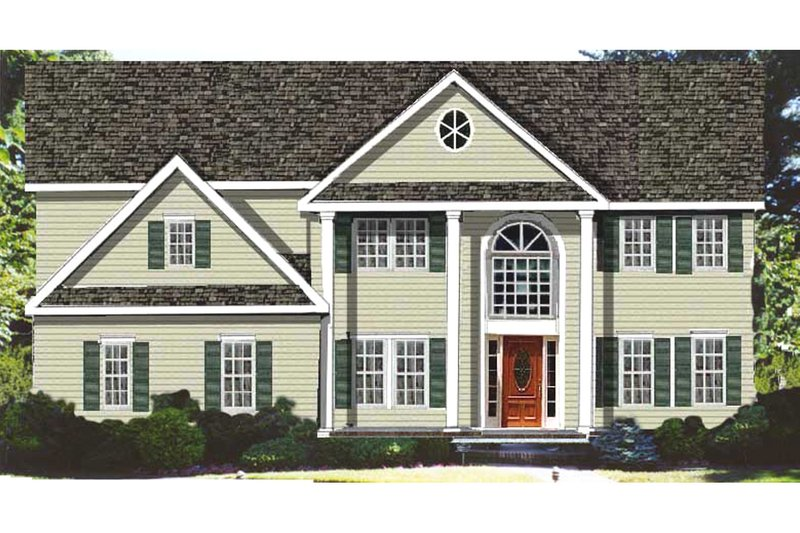 House Plan Design - Classical Exterior - Front Elevation Plan #3-268