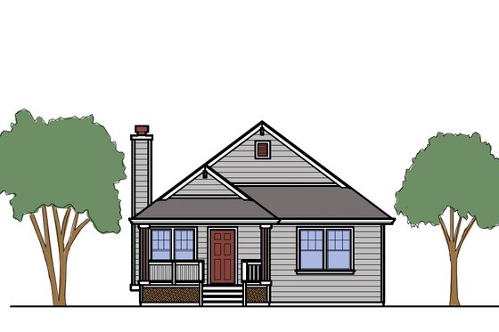 Cottage Exterior - Front Elevation Plan #515-19
