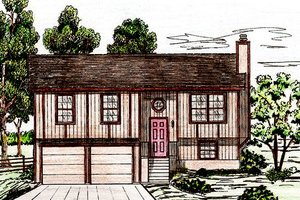 Dream House Plan - Exterior - Front Elevation Plan #405-158