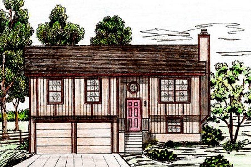 Exterior - Front Elevation Plan #405-158 - Houseplans.com