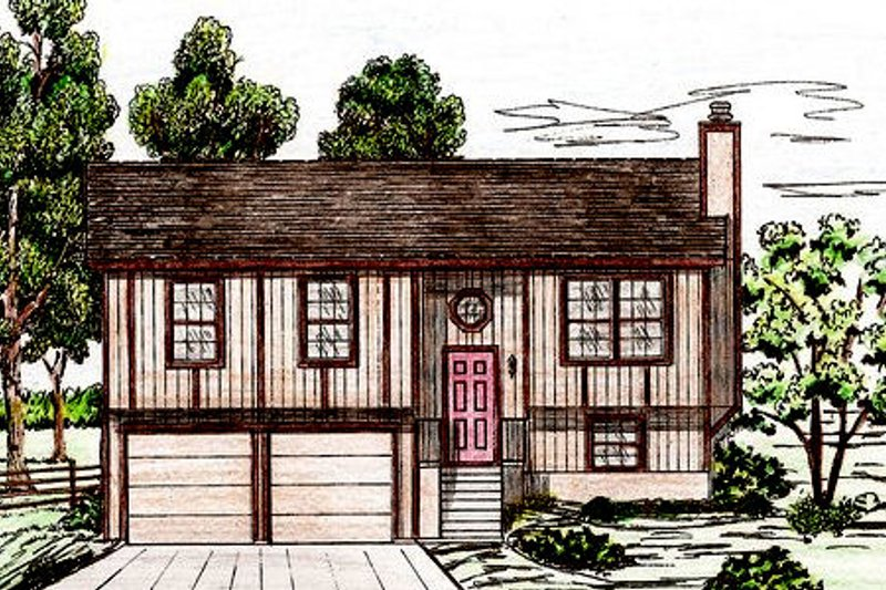 Exterior - Front Elevation Plan #405-158