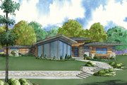 Contemporary Style House Plan - 4 Beds 2.5 Baths 3447 Sq/Ft Plan #923-71 Exterior - Front Elevation