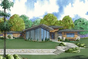 Contemporary Exterior - Front Elevation Plan #923-71