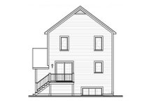 Dream House Plan - Country Exterior - Rear Elevation Plan #23-2180