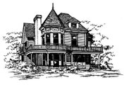 Victorian Style House Plan - 3 Beds 2.5 Baths 2400 Sq/Ft Plan #43-106 Exterior - Front Elevation