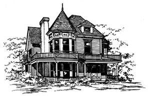 Victorian Exterior - Front Elevation Plan #43-106