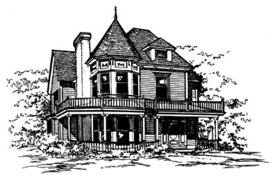 Victorian Exterior - Front Elevation Plan #43-106