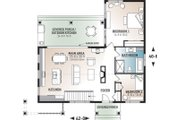 Contemporary Style House Plan - 2 Beds 1 Baths 1212 Sq/Ft Plan #23-2316 Floor Plan - Main Floor Plan