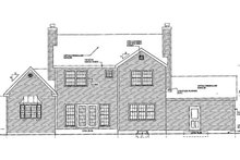 Home Plan - Traditional Exterior - Rear Elevation Plan #3-204