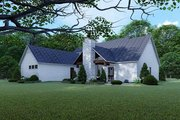 Contemporary Style House Plan - 3 Beds 4.5 Baths 2641 Sq/Ft Plan #923-125 Exterior - Rear Elevation