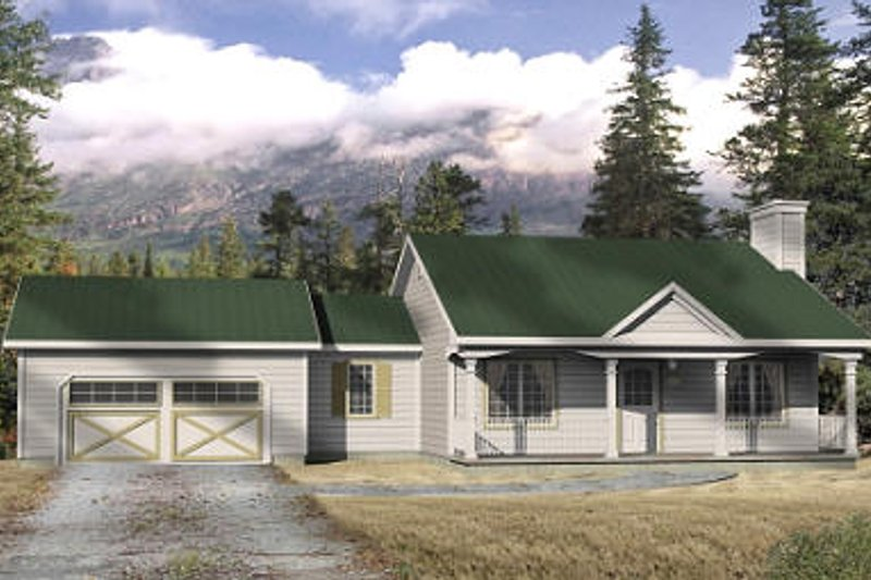 Ranch Exterior - Front Elevation Plan #22-506