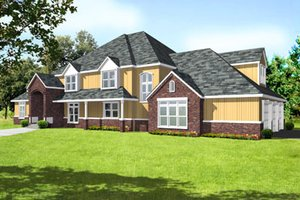 Traditional Exterior - Front Elevation Plan #105-203