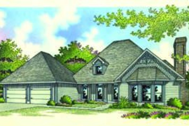 Traditional Exterior - Front Elevation Plan #45-193
