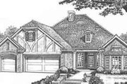 Tudor Style House Plan - 3 Beds 2.5 Baths 2144 Sq/Ft Plan #310-428 Exterior - Front Elevation
