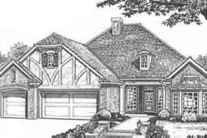 Tudor Exterior - Front Elevation Plan #310-428