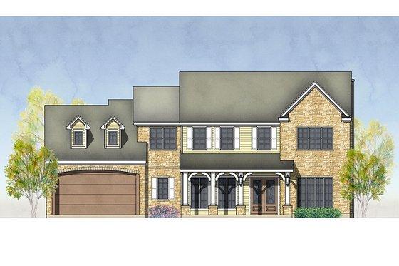 Exterior - Front Elevation Plan #575-1