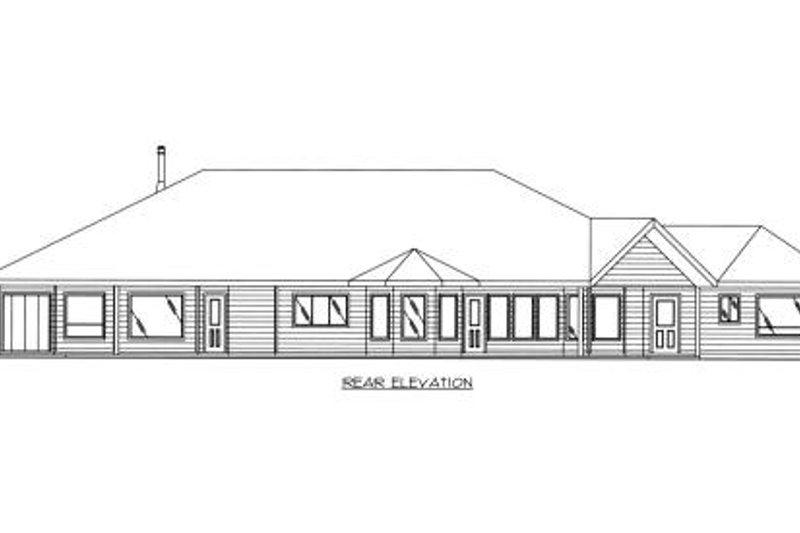 Bungalow Exterior - Rear Elevation Plan #117-558 - Houseplans.com