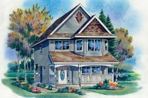 House Design - Farmhouse Exterior - Front Elevation Plan #18-280