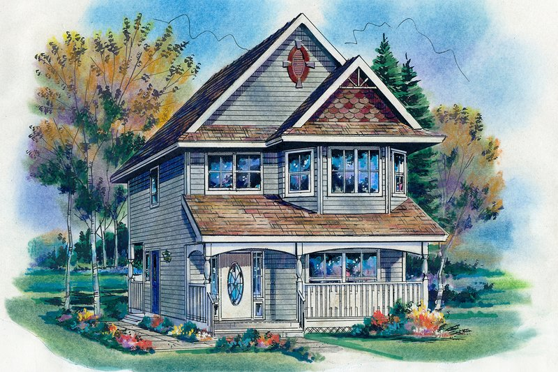 Architectural House Design - Farmhouse Exterior - Front Elevation Plan #18-280