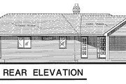 Ranch Style House Plan - 3 Beds 2 Baths 1428 Sq/Ft Plan #18-120 Exterior - Rear Elevation