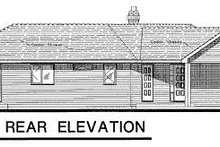 House Blueprint - Ranch Exterior - Rear Elevation Plan #18-120