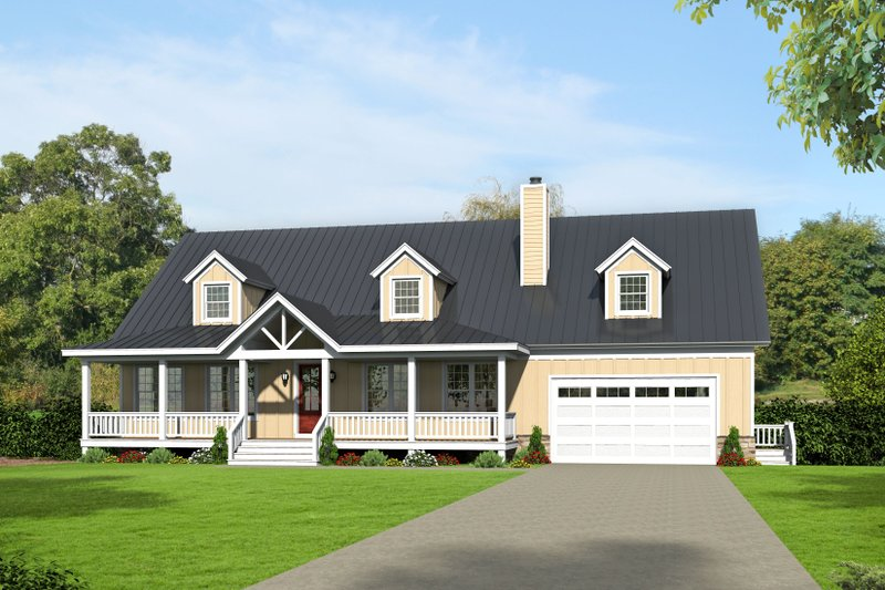 Architectural House Design - Country Exterior - Front Elevation Plan #932-207