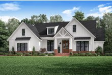 Dream House Plan - Craftsman Exterior - Front Elevation Plan #1067-2