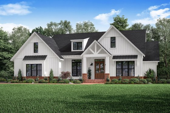 Architectural House Design - Craftsman Exterior - Front Elevation Plan #1067-2