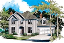 Dream House Plan - Traditional Exterior - Front Elevation Plan #48-448