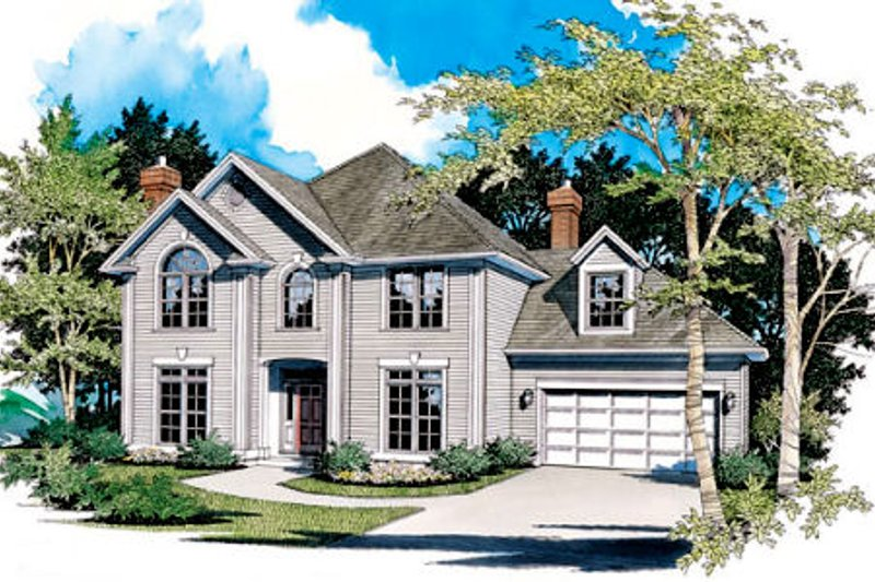 Traditional Exterior - Front Elevation Plan #48-448