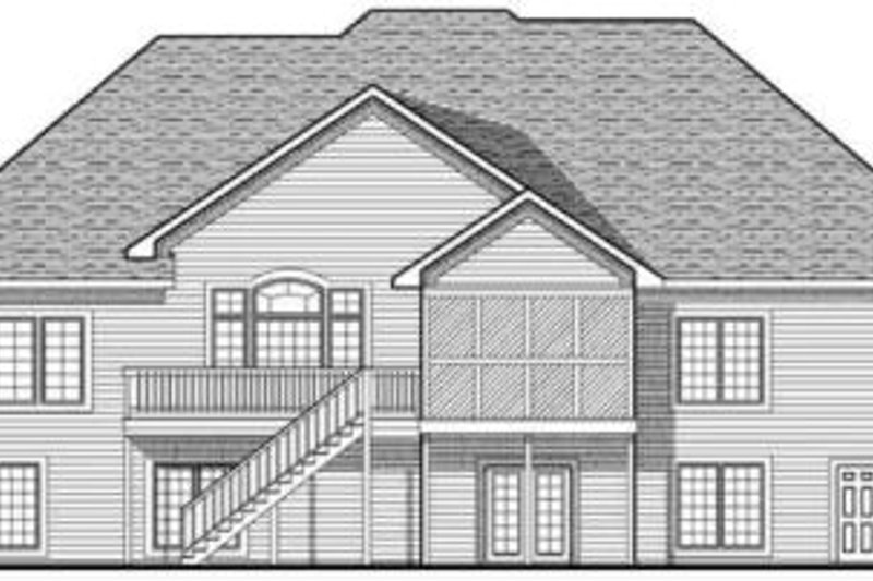 Farmhouse Exterior - Rear Elevation Plan #70-629 - Houseplans.com