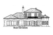 European Style House Plan - 4 Beds 3.5 Baths 3512 Sq/Ft Plan #76-110 Exterior - Rear Elevation