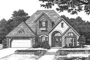 European Style House Plan - 3 Beds 2.5 Baths 2029 Sq/Ft Plan #310-797 Exterior - Front Elevation