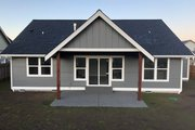 Craftsman Style House Plan - 3 Beds 2 Baths 1522 Sq/Ft Plan #1070-46 Exterior - Rear Elevation