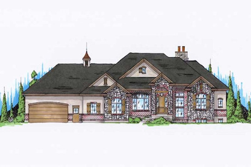 Home Plan - Traditional Exterior - Front Elevation Plan #5-273