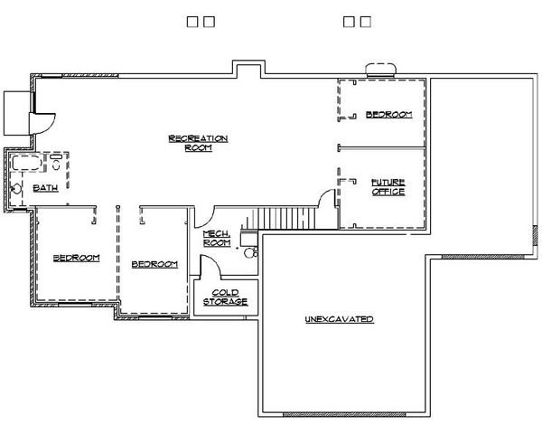 House Plan Design - Traditional Floor Plan - Lower Floor Plan #5-247