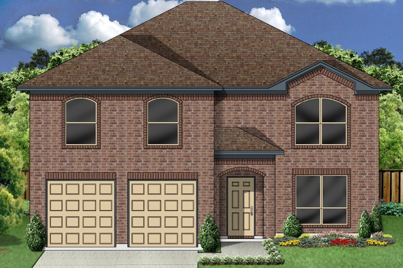 Traditional Exterior - Front Elevation Plan #84-405 - Houseplans.com