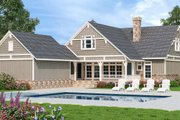 Craftsman Style House Plan - 3 Beds 2 Baths 1968 Sq/Ft Plan #45-598 Exterior - Rear Elevation