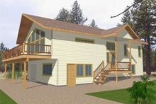 Dream House Plan - Modern Exterior - Front Elevation Plan #117-394