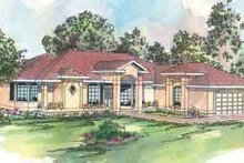 Mediterranean Exterior - Front Elevation Plan #124-429