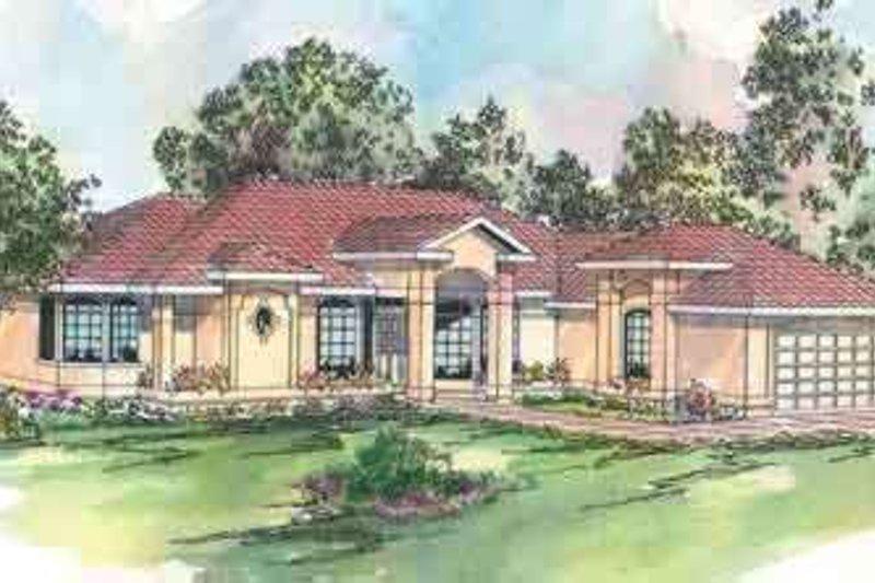 Dream House Plan - Mediterranean Exterior - Front Elevation Plan #124-429