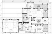 Cottage Style House Plan - 3 Beds 3 Baths 3787 Sq/Ft Plan #928-319 Floor Plan - Main Floor Plan