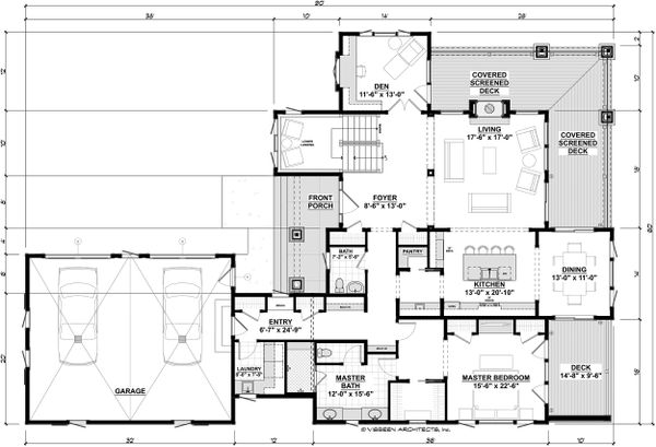 Cottage Floor Plan - Main Floor Plan Plan #928-319